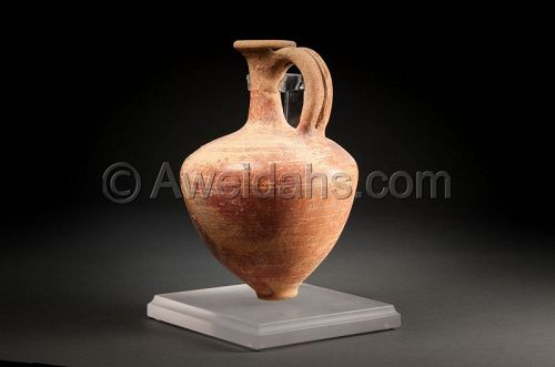 ANCIENT MIDDLE BRONZE AGE BURNISHED POTTERY JAR, 1850 BC