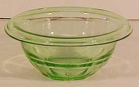 "Hazel Atlas Green Mixing Bowl 5-3/4"""