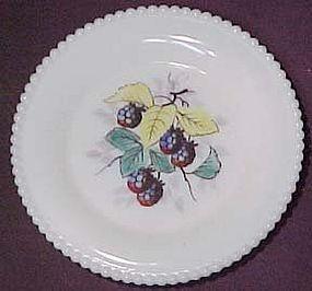 "Westmoreland Fruits Beaded Edge 6"" Plate, Black Berry"