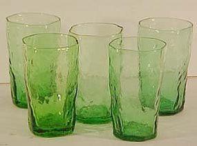 Seneca Driftwood Green Juice Tumblers