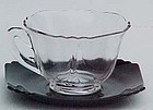 Cambridge Teacup, Black and Crystal