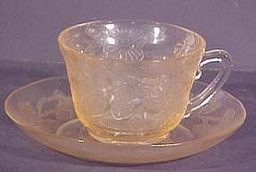 Macbeth-Evans Dogwood Pink Cup and Saucer