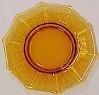 """Cambridge Amber Cleo Etched 8"""" Plate"""