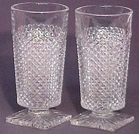 Westmoreland Crystal English Hobnail 11 oz. Footed Ice Tea