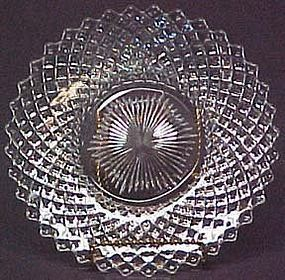 "Westmoreland English Hobnail 8"" Salad Plates, Crystal"