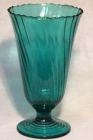 "Jeannette Swirl Ultramarine 9.5"" Vase"