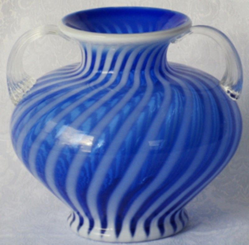Fenton French Royale Connoisseur Collection Vase with Handles
