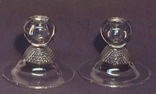 Duncan and Miller Tear Drop Single Candlesticks (pair)