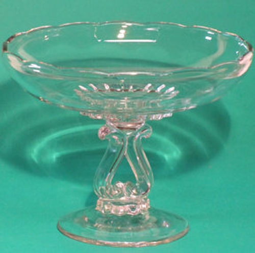 New Martinsville Lyre Compote, Crystal