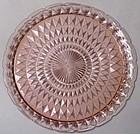 "Jeannette Windsor Diamond Pink Platter, 13.5"""