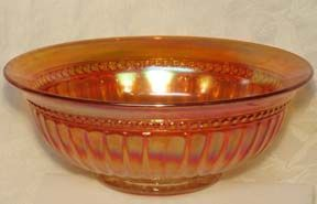 "Imperial Beaded Column Carnival 6-1/8"" Bowl"
