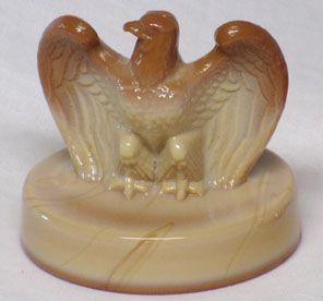 Fenton Bicentennial Eagle Paperweight, Chocolate