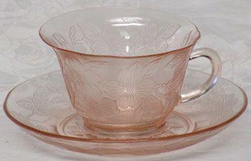 MacBeth-Evans Pink Dogwood Cup & Saucer