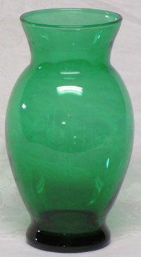 "Hocking Forest Green 6"" Vase"