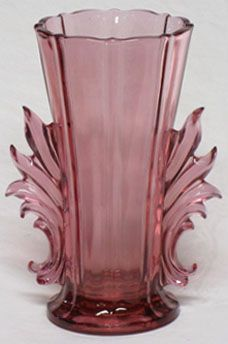Indiana/Tiara Baroque Vase, Dusty Rose