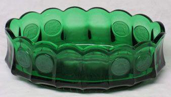 Fostoria Emerald Green Coin Console Bowl