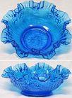 "Fenton Colonial Blue Roses 9.5"" Bowl"