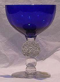 Morgantown Ritz Blue Golfball Saucer Champagne