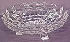 "Fostoria American 7"" 3-Footed Watercrest Bonbon"