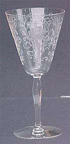 Fostoria Woodland Etched Water Goblet