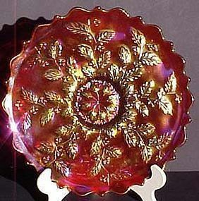 Fenton Frank's 85th Birthday Red Carnival Platter
