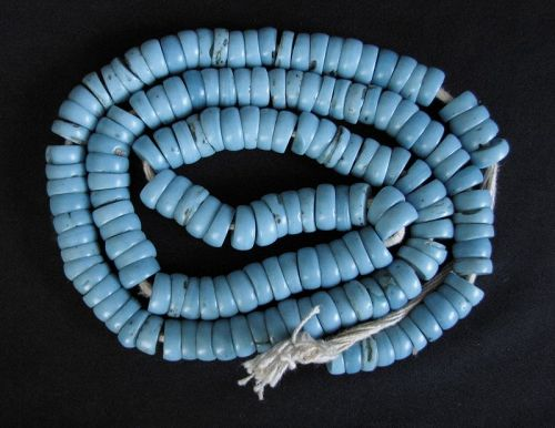 Nyishi Turquoise Glass Beads