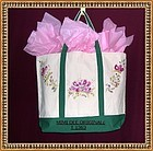 Signed Mimi Hand Painted Canvas Tote Purse Pet Carrier Grocery Bag