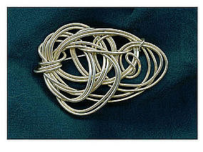 Signed Sterling Silver Pin Pendant Studio Handwrought
