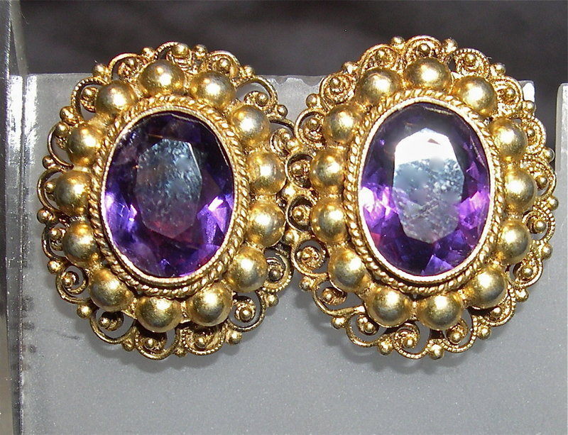 Vintage Peruzzi 800 Silver Florence Amethyst SBs