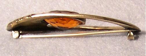 Vintage Unsigned George Steere Nouveau Brass Sash Pin