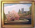 Signed Oil American Landscape Painting Magnolia Methuen