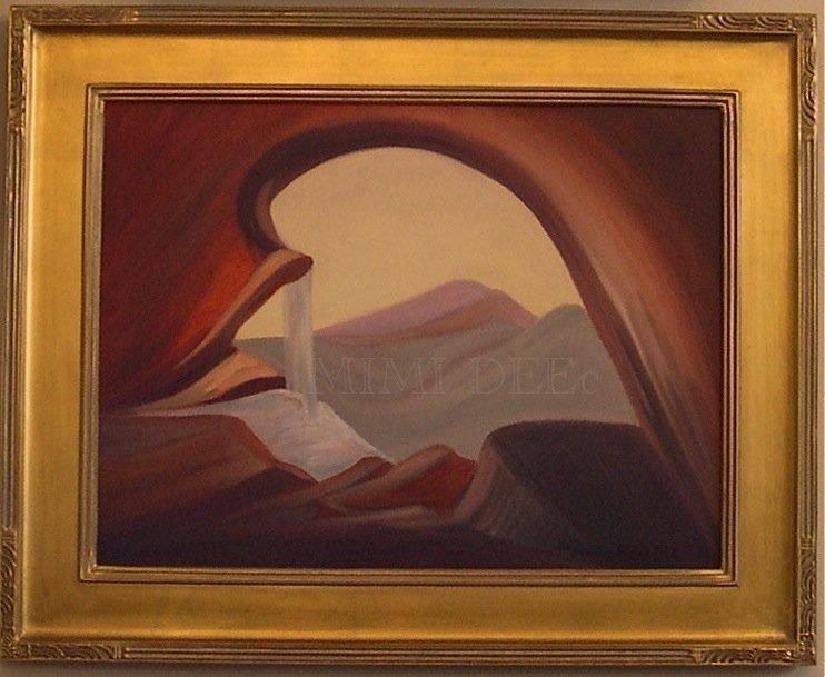 Signed American Oil Hommage Ala Palette de M. Gauguin