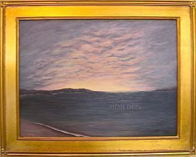 Signed Mimi Dee Original American Regional Luminous Sky Painting