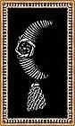 Vintage Signed Hobe Sterling Silver Moon Pin Tassel