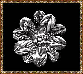Coro Sterling Silver Pin Brooch Looks Mexican Mexico