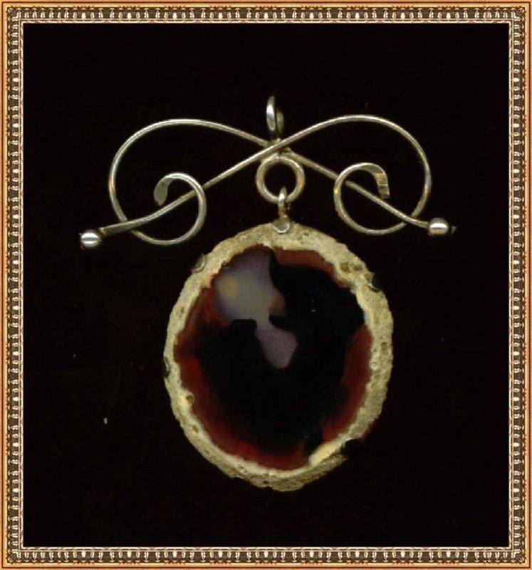Antique Unmk'd Victorian Arts Crafts Silver Knot Pendant