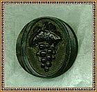 Vintage Antique Carved Black Victorian Button Grapes
