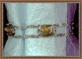 Vintage Art Deco Blister Pearl Bracelet Rhodium Early