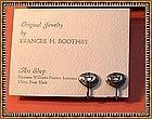 Vintage Modernist Frances H Boothby Sterling Earrings