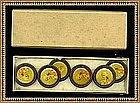 Vintage Antique 6 Box Lithograph Celluloid Button Count