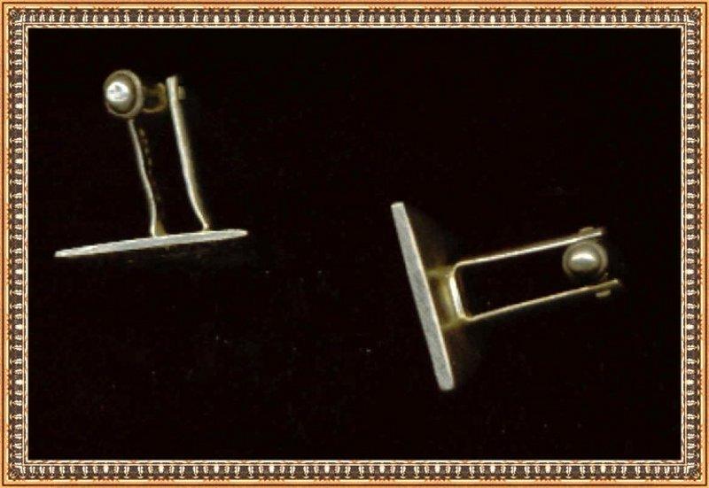Vintage Silver Cuff Links Cufflinks Skulls Mexican?