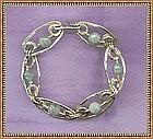 Artist Signed Studio Sterling Bracelet Aquamarine