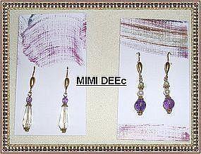 22K Gold Sterling Vermeil Earrings Lemon Quartz, Gems Each