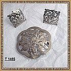 Vintage Stavre Gregor Panis Sterling Silver Pin Earring