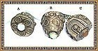 Two Vintage 800 Silver Peruzzi Charms Gemstones