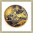 Vintage Cobalt Blue Satsuma Button Gold Paint Picture
