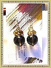 14K Gold Smoky Quartz Citrine Earrings by Mimi Dee