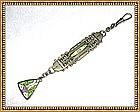 Vintage Antique Full Fob Chain Enamel Art Nouveau Deco