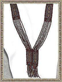 Antique Multi Beaded Sautoir Cut Steel Flapper Tassel Necklace