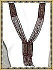 Antique Multi Beaded Sautoir Cut Steel Flapper Tassel Necklace
